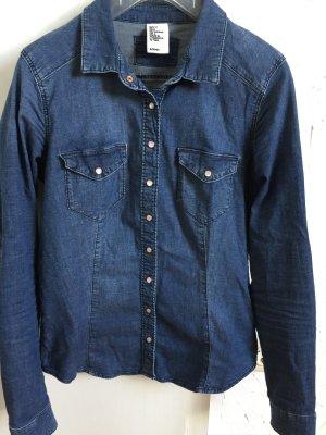 Stretchige, taillierte Jeansbluse von H&M &Denim - 36