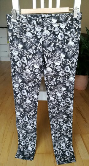 Stretchige Treggings mit Blumenmuster