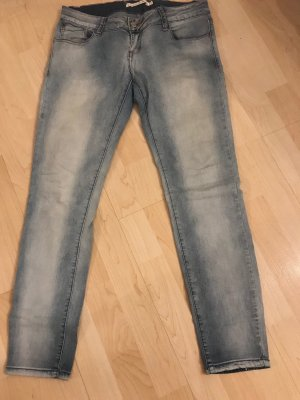 Luxury denim Stretch broek azuur
