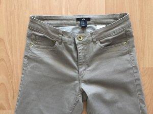 H&M Tube jeans grijs-bruin