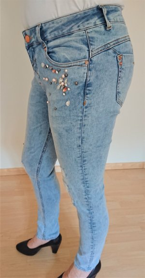 Cartoon Jeans stretch bleu azur coton
