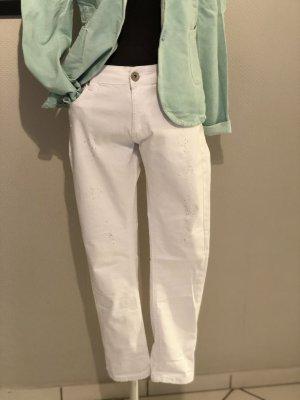 Stretch jeans wit Gemengd weefsel