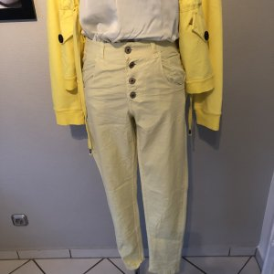 Stretch Jeans pale yellow mixture fibre