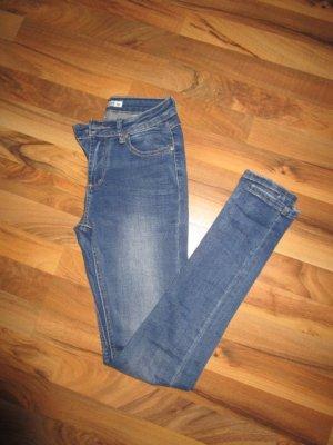 Jeans cigarette bleu