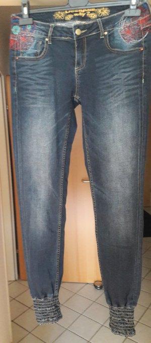 Desigual Stretch Jeans slate-gray