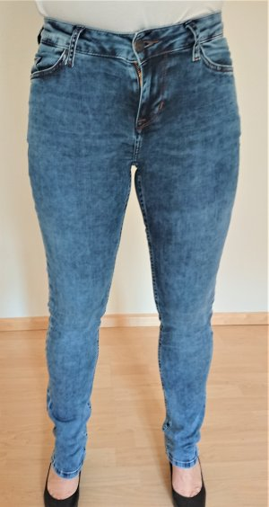 aceb0192640f5a Mustang Skinny Jeans steel blue cotton