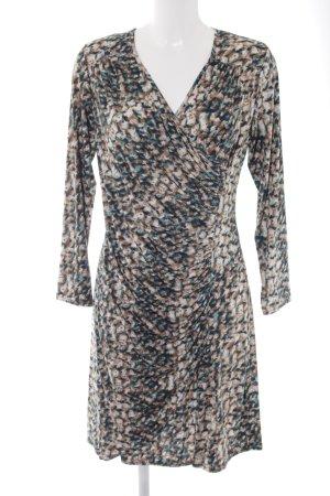 Vestido elástico estampado con diseño abstracto elegante