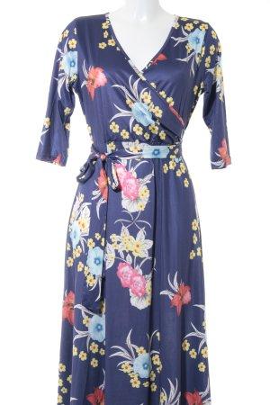 Stretch jurk bloemenprint glinsterend