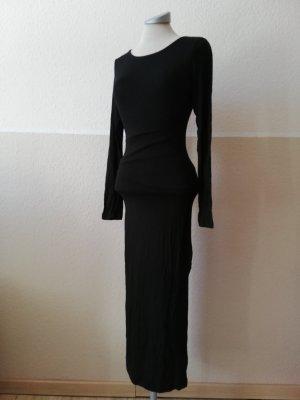 Stretchkleid Midikleid Schlauchkleid Gr. XS 34 neu schwarz gothic