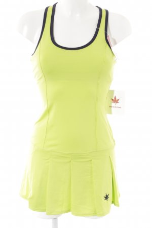 Stretch Dress neon green-blue athletic style