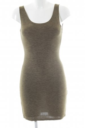 Stretch Dress olive green flecked casual look