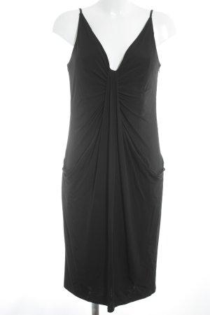 Vestido elástico negro elegante