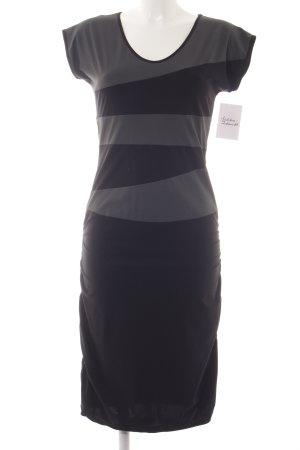 Stretchkleid schwarz-grau Casual-Look