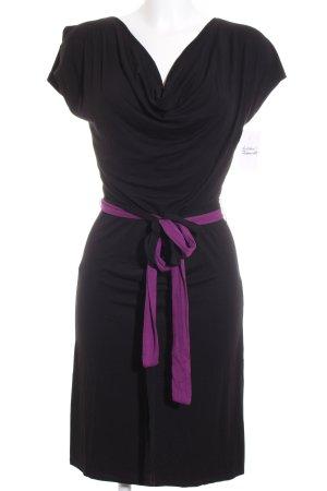 Stretchkleid schwarz-lila schlichter Stil