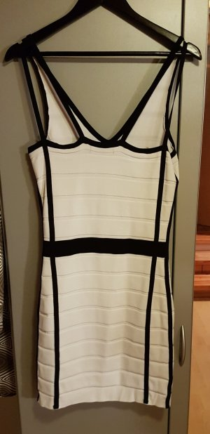 Stretchkleid schwarz-weiß