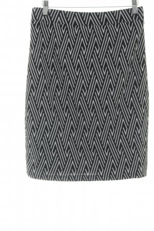 Stretch rok zwart-wit abstract patroon casual uitstraling