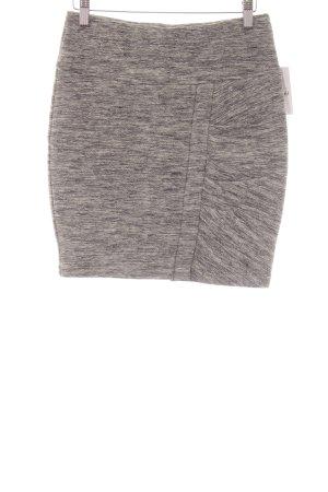 Stretchrock schwarz-weiß Farbverlauf Casual-Look