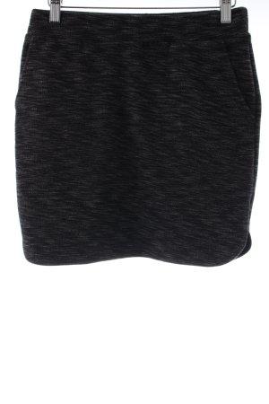 Stretchrock schwarz-weiß meliert Casual-Look
