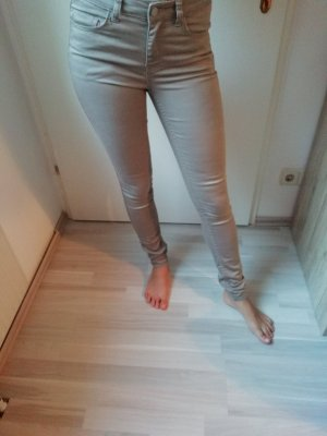 Pieces Drainpipe Trousers light grey