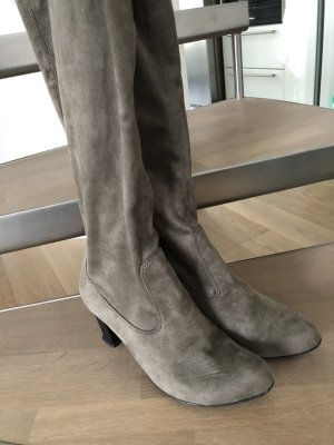 Stivale elasticizzato marrone-grigio
