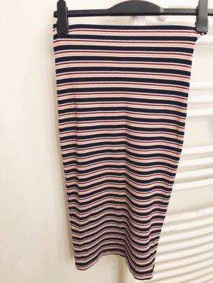 Stretchy Pencil Skirt mit Streifen