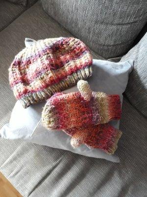 H&M Sombrero de punto multicolor tejido mezclado