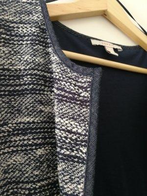 Esprit Knitted Blazer blue-white cotton