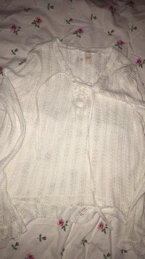 H&M Cropped Shirt white-natural white