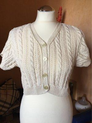 Boléro en tricot crème coton