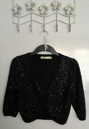 Ichi Bolero lavorato a maglia nero Cotone