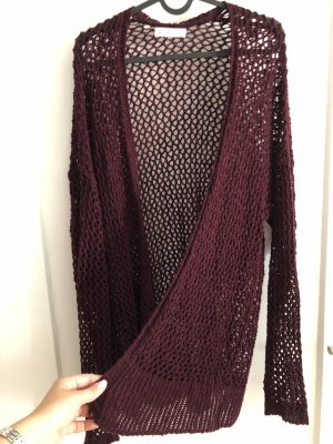Abercrombie & Fitch Knitted Cardigan bordeaux