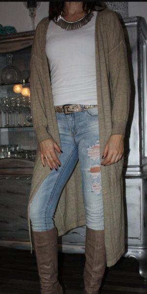 Strick Cardigan aus Italien 36 beige