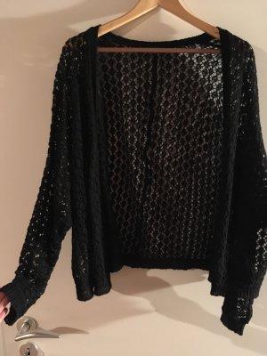 Crochet Cardigan black