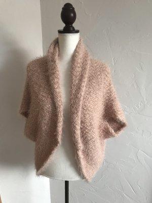 Cardigan in maglia color oro rosa-rosa pallido