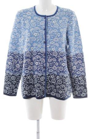 Cardigan tricotés motif floral style décontracté