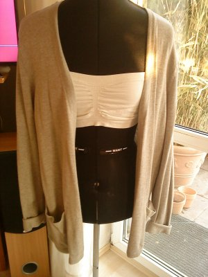 HM Knitted Cardigan grey brown mixture fibre
