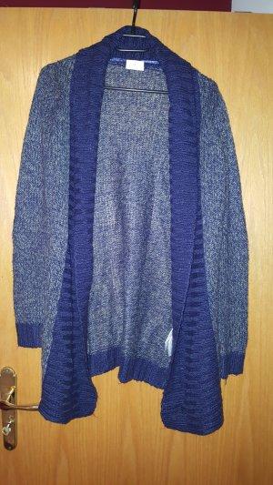 Strick Cardigan Größe S grau/blau