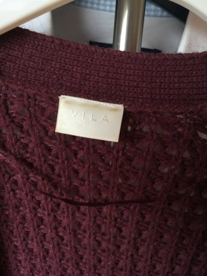Strick Cardigan in Bordeauxrot XS