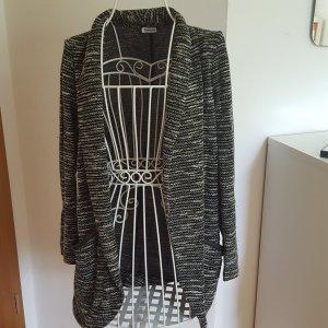 Strick-Cardigan schwarz-weiß