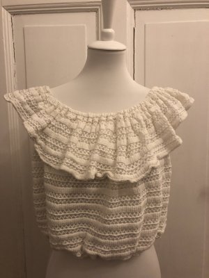 Mango Knitted Top white