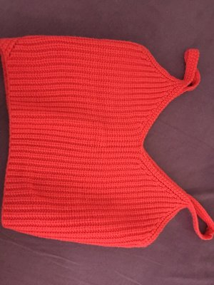 Cropped Shirt bright red