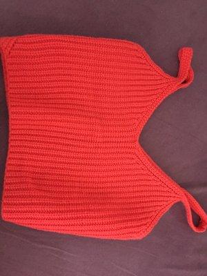 Camicia cropped rosso chiaro