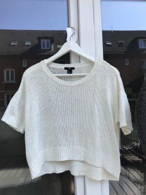 H&M Camisa tejida blanco puro-blanco
