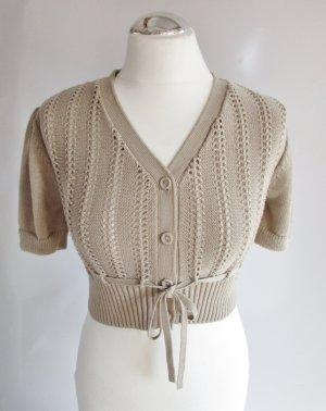 Street One Knitted Bolero beige-oatmeal mixture fibre