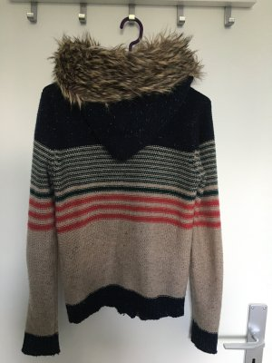 Review Coarse Knitted Jacket multicolored