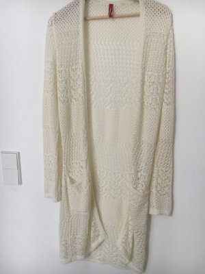 Manguun Cardigan all'uncinetto crema