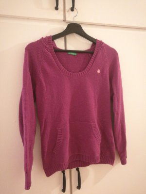 United Colors of Benetton Hooded Sweater lilac