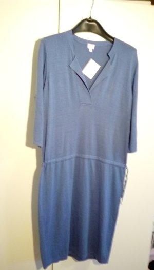 Alba Moda Vestido tejido azul aciano