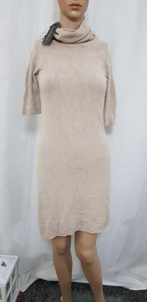 strick kleid beige