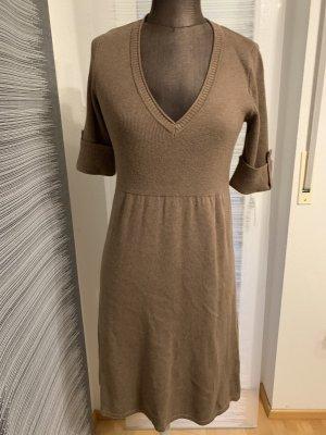 Zero Gebreide jurk grijs-bruin